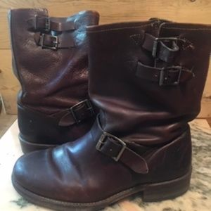 Men's Frye Boots in Brown with Buckles